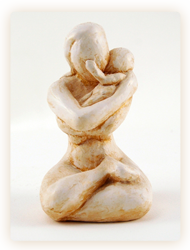 mother and baby sculpture