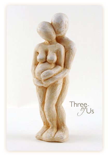 mother and child pregnancy sculpture