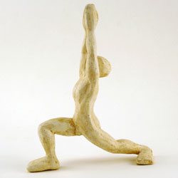 yoga sculpture side view