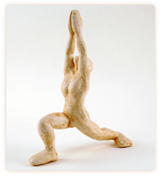 Yoga warrior posesculpture