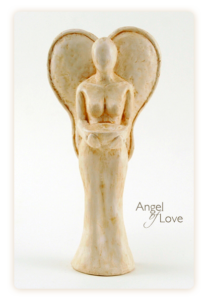 Angel of Love - Sculpture by Rochman Reese