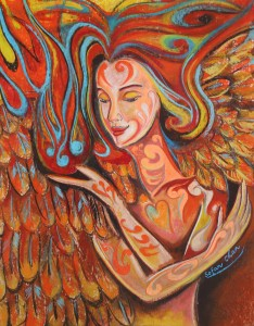 Angel Within - Pastel Drawing by Sofan Chan