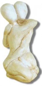 Lovers - Sculpture by Rochman Reese